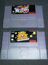 SUPER Nintendo Games Kirby Super Star and Kirby's dream curse lot OF 2