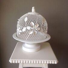 Estilo vintage hermosa cúpula Blanco Pastel Soporte de boda, fiesta, hogar, pantalla.