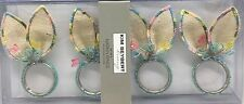 x4 Kim Seybert Easter Napkin Ring Holder Bunny Ears Butterfly Jute Designer NEW
