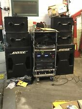 More details for bose pa system - 4 x 802s, 2 x 302 sub, mixing desk, several big bose amps,