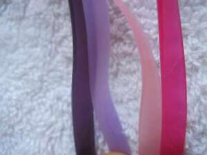 4 Scunci Silicone Neon Thin Skinny Stay Put Slide Proof Hold Headband Secure Fit