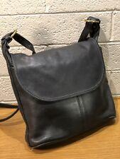 Coach, Black Leather, Crossbody Bucket Messenger Shoulder Handbag, JIG-4115