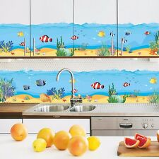 DIY Underwater World Fish Seaweed Mural Vinyl Wall Decal Sticker Bathroom Decor