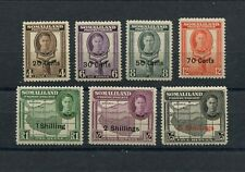 !!! BRITISH COLONY, SOMALILAND PROTECTORATE, 1951 ISSUE, 7 VALUES MH/MNH