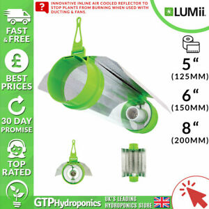 """Lumii Aerotube Cool Tube Reflector - 5"""" / 6"""" / 8"""" Inches Inline Air Cooled Shade"""