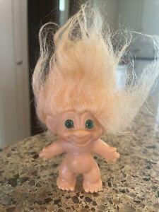 """Vintage Troll Orange Hair Green Eyes Unmarked 3"""""""