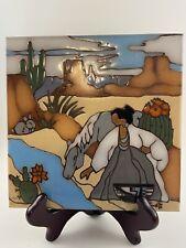 Earthtones Hand Painted Desert Scene Tile