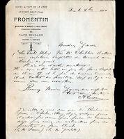 "LA FERTE-MILON (02) HOTEL & CAFE DE LA GARE ""FROMENTIN"" en 1910"
