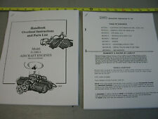 Mcculloch drone 0-100-1 aircraft engines overhaul instructions parts list gyro