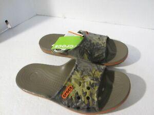 CROCS cb Lopro Realtree walnut relaxed fit Slide sandal  Mens 8 Womens 10  NEW