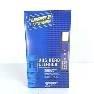 Vintage Blockbuster VHS Wet Head Cleaner - Empty - Prop or Collectible