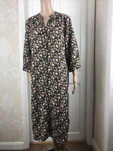 Ditsy Print Floral Midi Shirt Tunic Dress Loose Fit Size 18