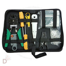 RJ11 RJ45 Lan Crimper Network Ethernet Hand Tools Kit Cable Tester Crimp UKDC