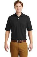 JERZEES SpotShield 5.6-Ounce Jersey Knit Sport Shirt with Pocket polo golf 436MP