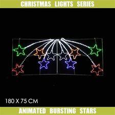 Christmas LED Motif Lights 10 Pcs Animated Bursting Stars 180x75cm Outdoor Sign