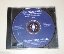 Werkstatthandbuch auf CD Subaru Automatikgetriebe Reparaturhandbuch - 2002!