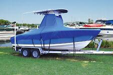 "T-Top Center Console Boat Cover 24'5""-25'4"" 102"" Beam NO Rails Dual OB Motor"