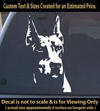 Doberman 6 inch vinyl decal pet dog lovers animal sticker car truck home decor