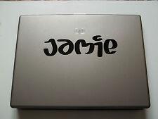 1 x nome personalizzato adesivo per notebook vinile decalcomania succo font PC BAMBINO KIDS