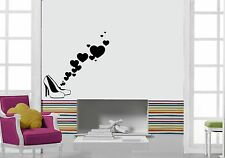 Wall Stickers Vinyl Decal Love Hearts Shoes Shopping Style Decor Mural ig068