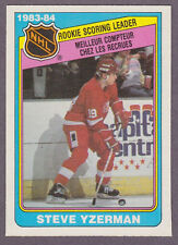 1984-85 OPC Hockey Steve Yzerman Rookie Leaders #385 Detroit Red Wings NM/MT
