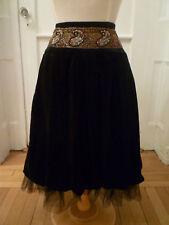 NWT: ABS Black Velvet Bubble Skirt w/ Beaded Waist, 12