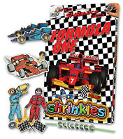 FORMULA 1 ONE RACING CARS SHRINKLES SHRINK ART BUMPER SET & PENCILS CRAFT GIFT