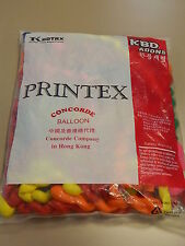 50pc Spiral Latex Rubber Helium Balloons