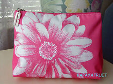 New Clinique Pink Daisy Cosmetic Bag