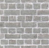 Nuevo Rasch - Efecto de Muro Ladrillos Feature Pared Diseño Gris Papel Pintado -