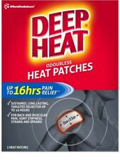 2 ×  Deep Heat  Self Adhesive Heat Patches extra large  Novalang