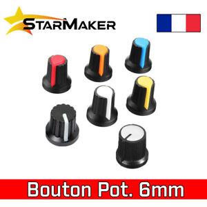 Bouton Potentiomètre de couleur en plastique - 6mm - 7 choix