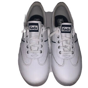 Women's Size 7 Keds Champion White Leather Sneakers Tennis Shoes