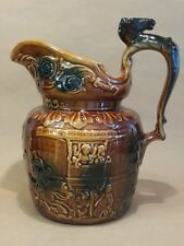 Vintage Arthur Wood Pichet eau Ale Stout Cheval Chasse Mélasse Glaze 2 pt