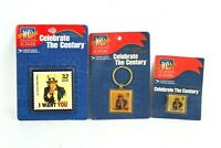 Celebrate the century I want you 32 cent stamp pin magnet and keychain