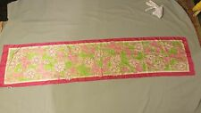 """Lilly Pulitzer scarf 100% Silk Long 57"""" X 13"""" Butterflies Ford Breast Cancer"""