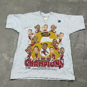 90s VTG CHICAGO BULLS 1998 Champions Caricature T Shirt Michael Jordan Youth L