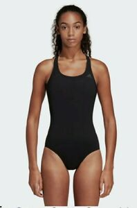 Adidas Solid Infinitex Swimsuit, Black, UK 34