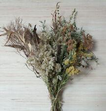 "Dried Wildflowers flower bouquet 20"" Floral Arrangement Craft Flowers dry stems"
