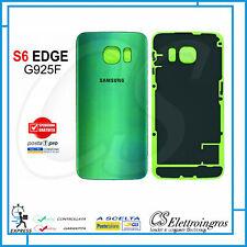 Scocca back cover copri batteria verde per Samsung Galaxy S6 Edge SM G925F