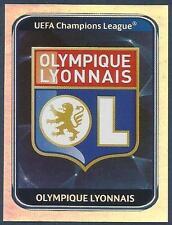 PANINI UEFA CHAMPIONS LEAGUE 2010-11- #073-LYON TEAM BADGE-SILVER FOIL