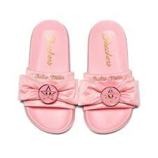 Sailor Moon X Skechers Sandals Flat Summer Stlye Pink Color Size 8 Us