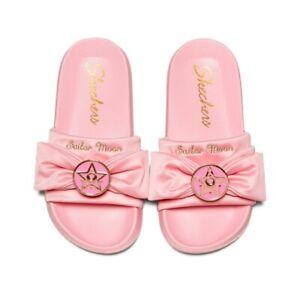 Sailor Moon X Skechers Sandals Flat Summer Stlye Pink Color Size 9 Us