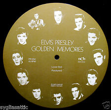 ELVIS PRESLEY-GOLDEN MEMORIES-IMPORT PICTURE DISC-ROCKABILLY-Lover Doll