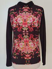 SPORTSGIRL Black/Pink Floral Blouse/Top Size XS
