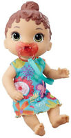 Baby Alive Baby Lil Sounds: Interactive Brown Hair Baby Doll Kid Toy Gift