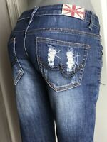 Machine Women's Denim Skinny Jeans Size 0 ( 25 ) Ripped Distressed Destroyed