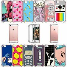 For Apple iPhone 5SE | iPhone 5S | iPhone 5 Black Bumper TPU Case - Vintage