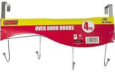 4 ganci sopra la porta abiti appendiabiti vestiti indumento Hanger Ganci Asciugamano rack holder