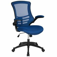 Flash Furniture Mid Back Mesh Office Swivel Chair in Blue